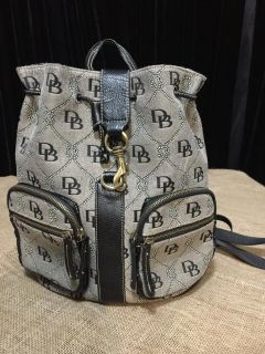 Authentic Dooney& Burke Backpack Style Purse