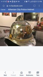 1930's police helmet from Athens