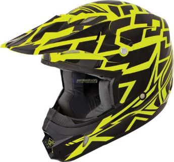 Buy FLY KINETIC BLOCK OUT HELMET BLACK/YELLOW motorcycle in Sauk Centre, Minnesota, United States, for US $98.95