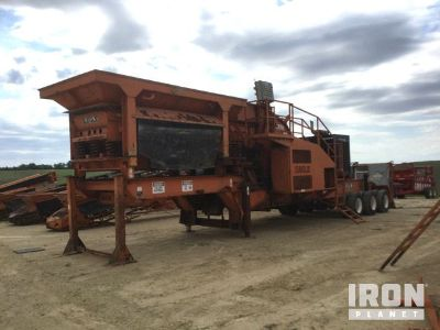 2007 Eagle 1400-45 Portable Impact Crusher Plant w/ Screen Plant & (4) Conveyors