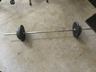 100# Weight and Straight Bar