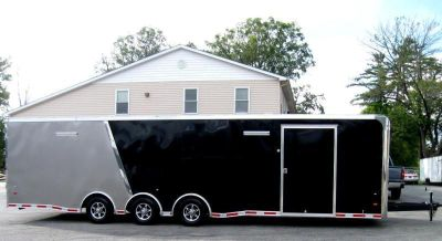 2019 32' Pewter/Black Race Car Trailer