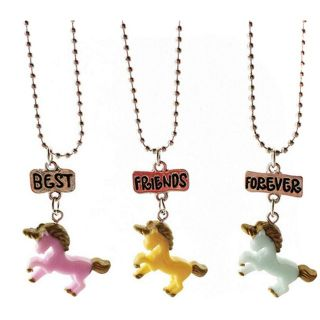 Unicorn Best Friend Forever Charms with Chain