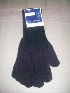 NEW With Tags Womens Soft CHENILLE Gloves (Black)