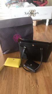 Tory Burch Parker tote and wallet