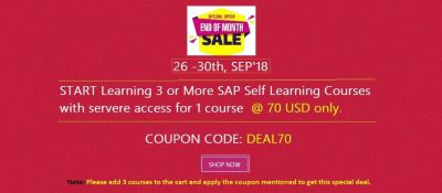 Learn 3 courses @ 70 $ Only - (26-30 th, SEP '18 )