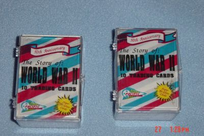 2 WWII Trading Card Sets 50th Anniversary