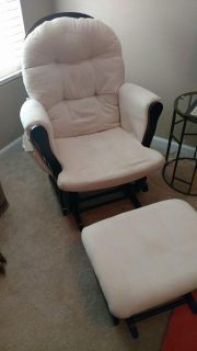 Glider with footstool