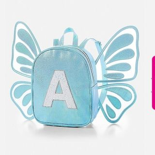 NEWJustice Initial Butterfly Wings Mini Backpack