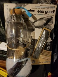 New eau good charcoal filtered water bottle