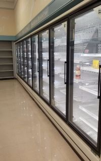 9 door reach in commercial cooler