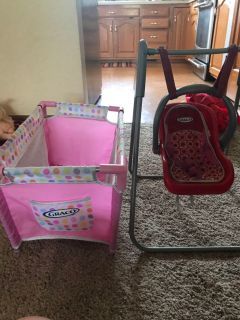 Graco play pen, swing, and carrier