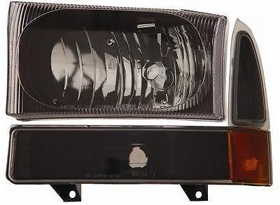 Buy Anzo Headlights 111080 Clear W/Black Housing 1999-2004 Ford F-250 Super Duty motorcycle in Tallmadge, Ohio, US, for US $179.97