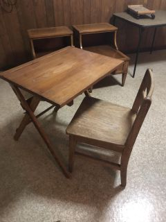 Antique children s desk and chair