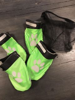 Dog booties with carry bag