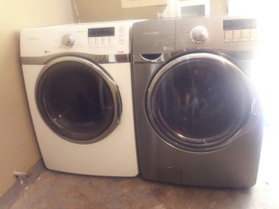 Samsung dryer and front load washer