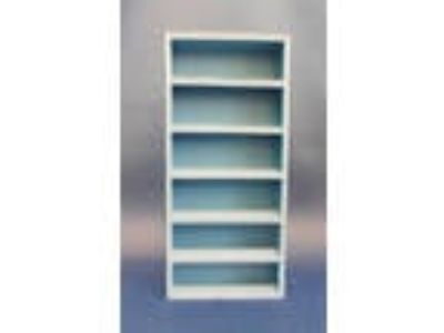 Dollhouse Miniature 1:12 Scale Blue Painted Bookshelf