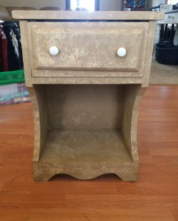 Wooden nightstand/end table