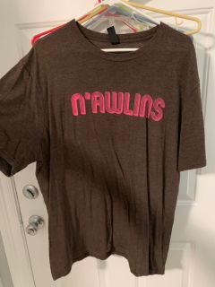 XL size - N Awlins brown and pink shirt from Nola T-shirt of the month club. Retails for 20 bucks