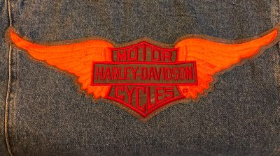 Lee Jean Jacket with Harley Davidson Patch