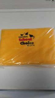 National school choice week scarf yellow and plastic bag new