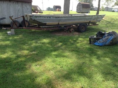 21' Alweld double hulled boat and trailer