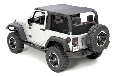 Purchase Rugged Ridge 13588.35 - 07-09 Jeep Wrangler Black Diamond Island Topper Soft Top motorcycle in Suwanee, Georgia, US, for US $90.40