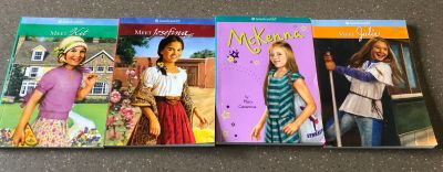 4 American Girl Doll Books . Pick up in Steward or Rochelle