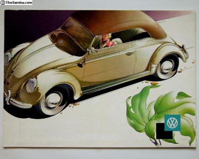 1958 Convertible Beetle Reuters Brochure