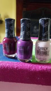 Three ORLY BREATHABLE nail colors