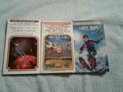 3 choose your own adventure books