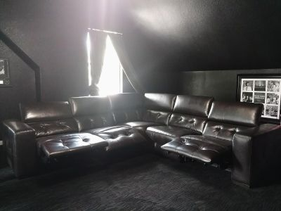 Z Gallerie Sectional with 3 recliners