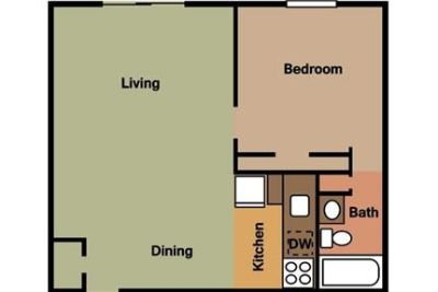 2 bedrooms Apartment - You'll find the conveniences.