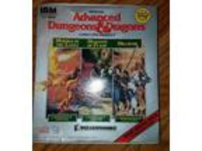 IBM TSR PC Advanced Dungeons & Dragons 3 games in 1 Hillsfar