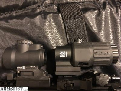 For Sale: Trijicon MRO with eotech magnifier