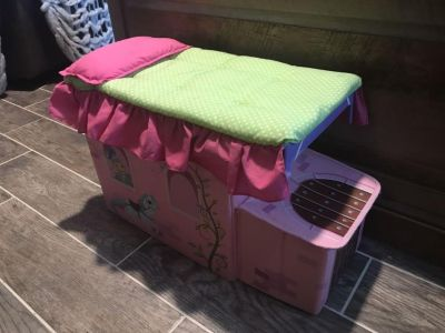 Doll bed storage container