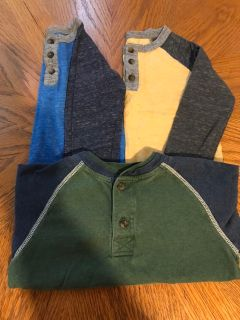 Long Sleeve Henley Tops