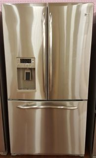 French door refrigerator stainless steel frofile