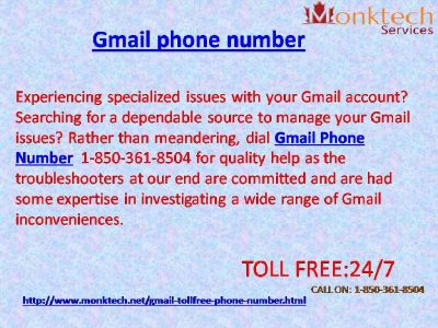 Is Gmail signal 1-850-361-8504 fee accessible At A Nominal Cost?