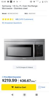 Brand New, in box, Samsung microwave