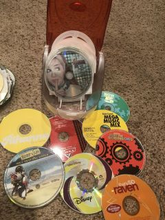CDs and CD holder