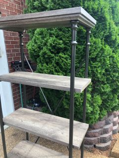 NEW decorative 4 Tired Wood and iron shelf $85 each