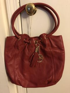 Authentic red leather Michael Kors bag