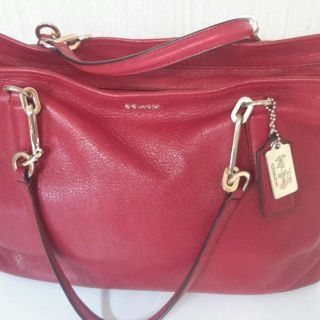 Coach Red/Red large tote mint condition
