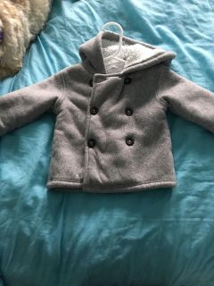 6-9 months thick fleece jackets with hood