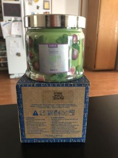 Party Lite Cypress Fig 3 Wick Candle