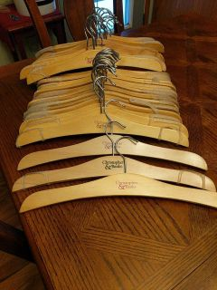 35 Christopher and Banks wooden hangers 15.00