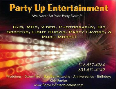 DJ For ALL Occasions $225 ....... www.PartyUpEntertainment.com