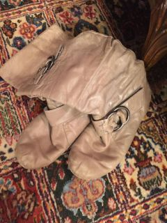Well loved slouchy leather boots
