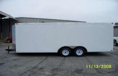 $5,060, 8.5x20 Car Hauler Wsolid Wall Construction  7k Axles